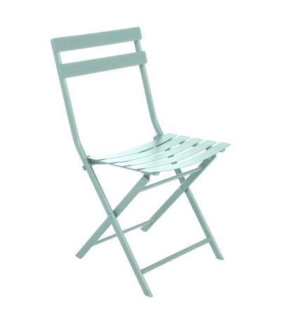 Chaise pliante en métal Greensboro - Vert céladon