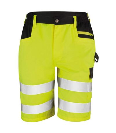 Result Core Mens Reflective Safety Cargo Shorts (Pack of 2) (Yellow) - UTRW6890