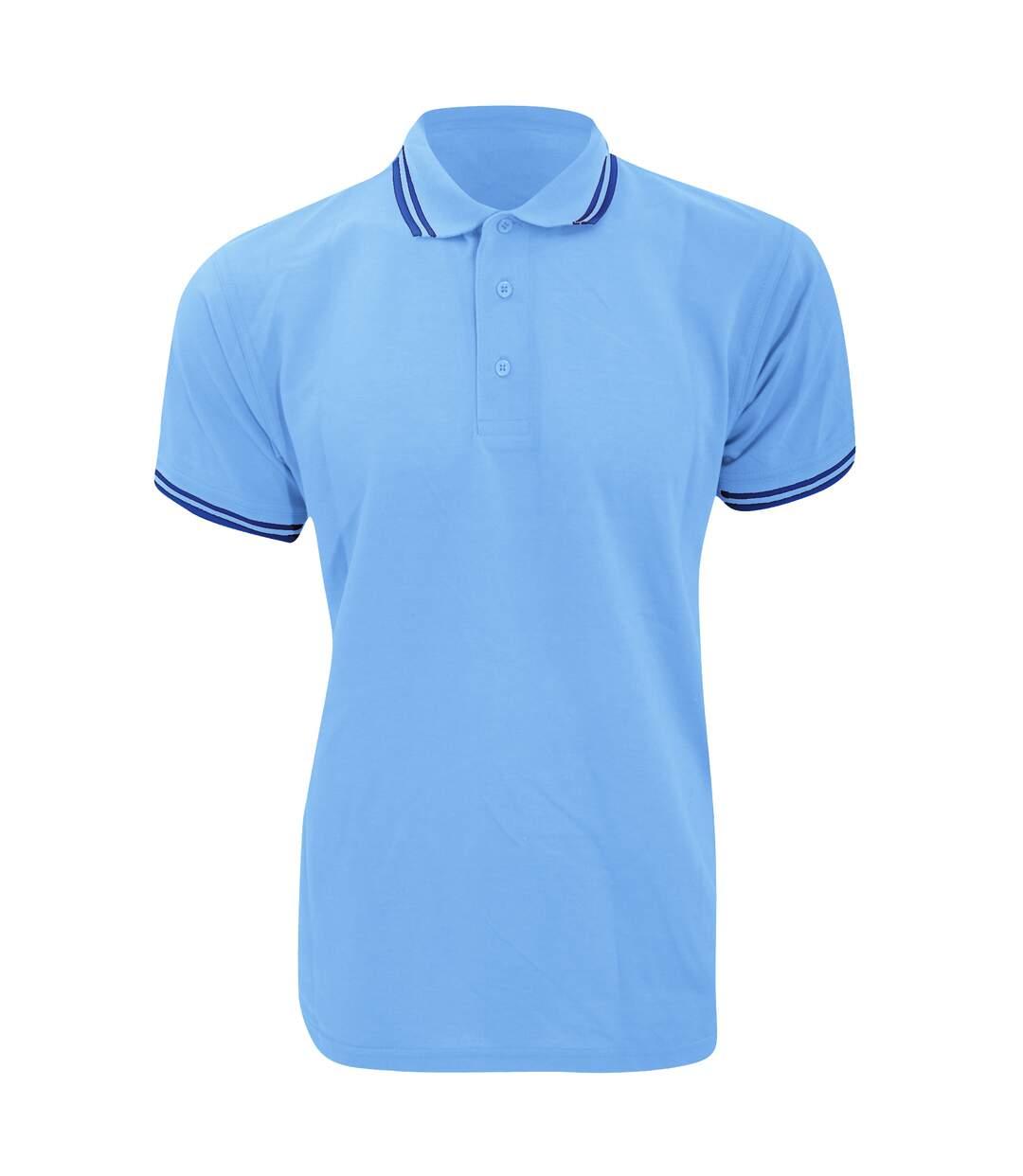 Kustom Kit Mens Tipped Piqué Short Sleeve Polo Shirt (Black/Red) - UTBC613