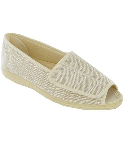 Mirak Quimper Canvas Sandal / Womens Sandals (BEIGE) - UTFS155