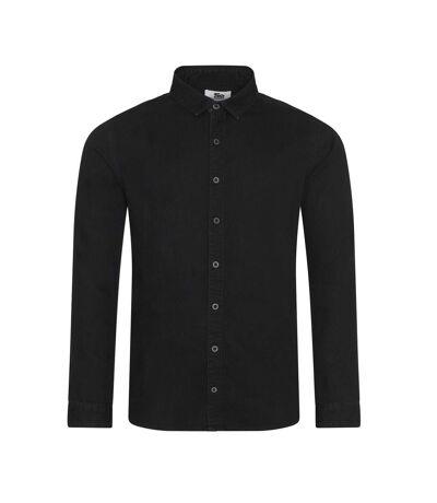 AWDis So Denim Mens Jack Denim Shirt (Black) - UTRW6177