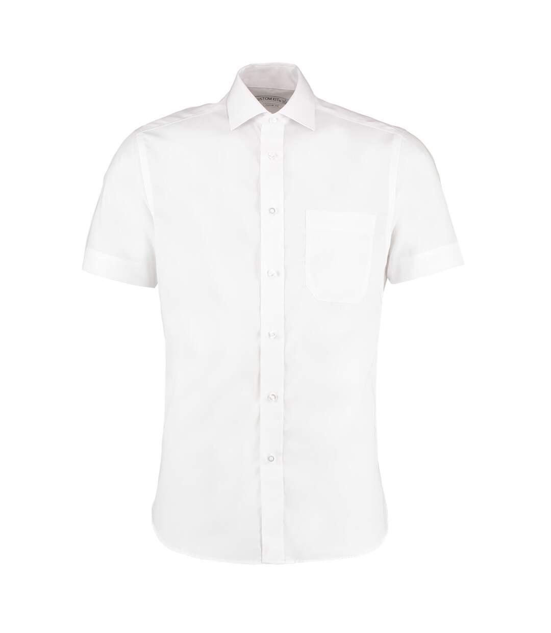 Kustom Kit Mens Premium Non Iron Short Sleeve Shirt (White) - UTBC596