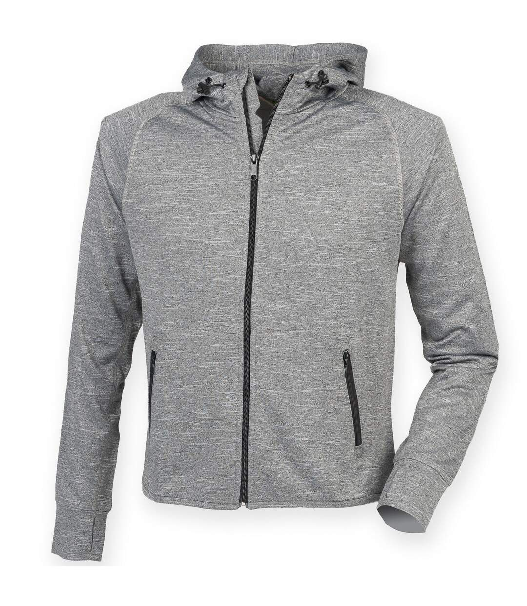 Tombo Teamsport Womens/Ladies Lightweight Running Hoodie With Reflective Tape (Grey Marl) - UTRW4790