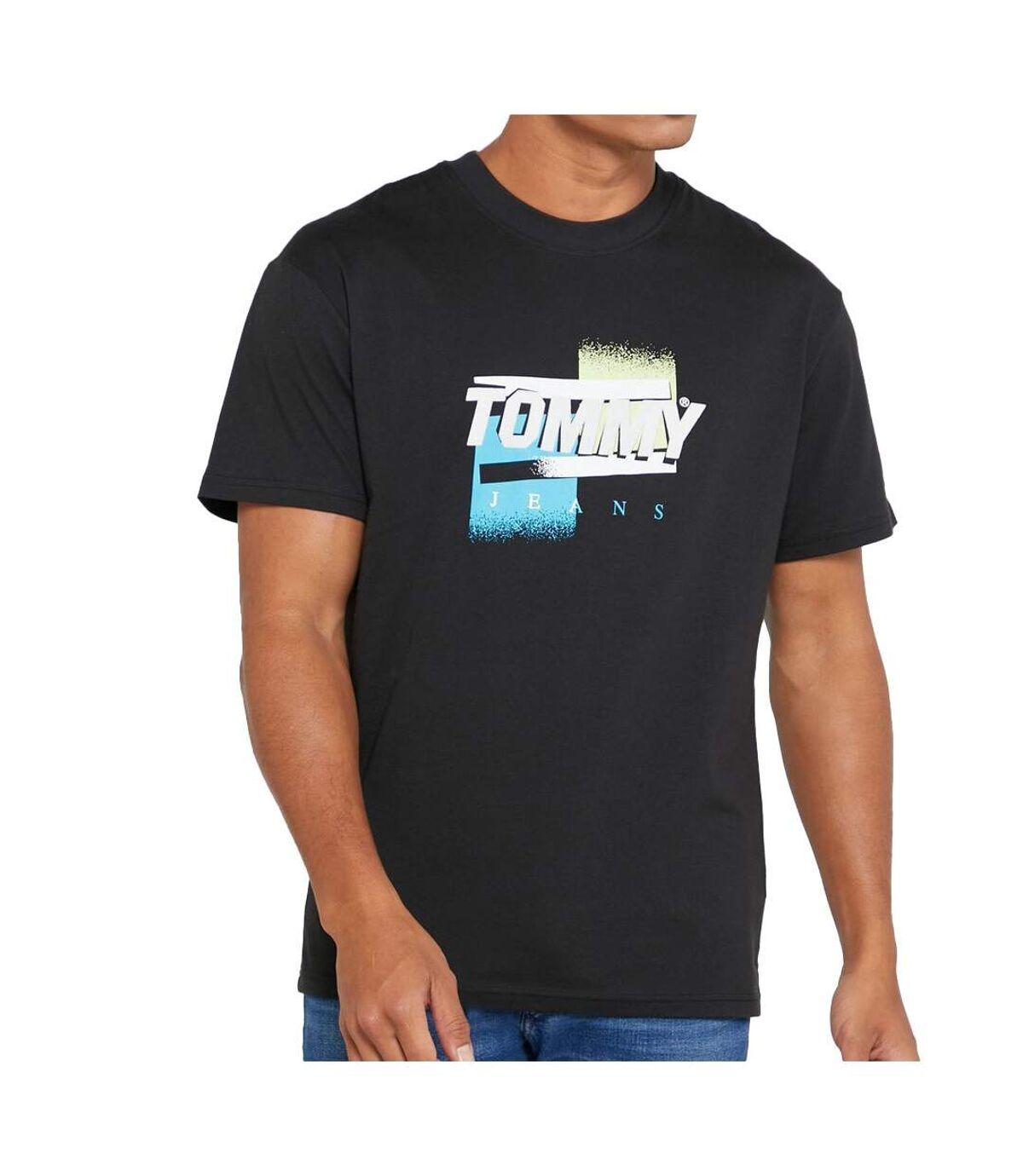 T-shirt Noir Homme Tommy Jeans Color Graphic