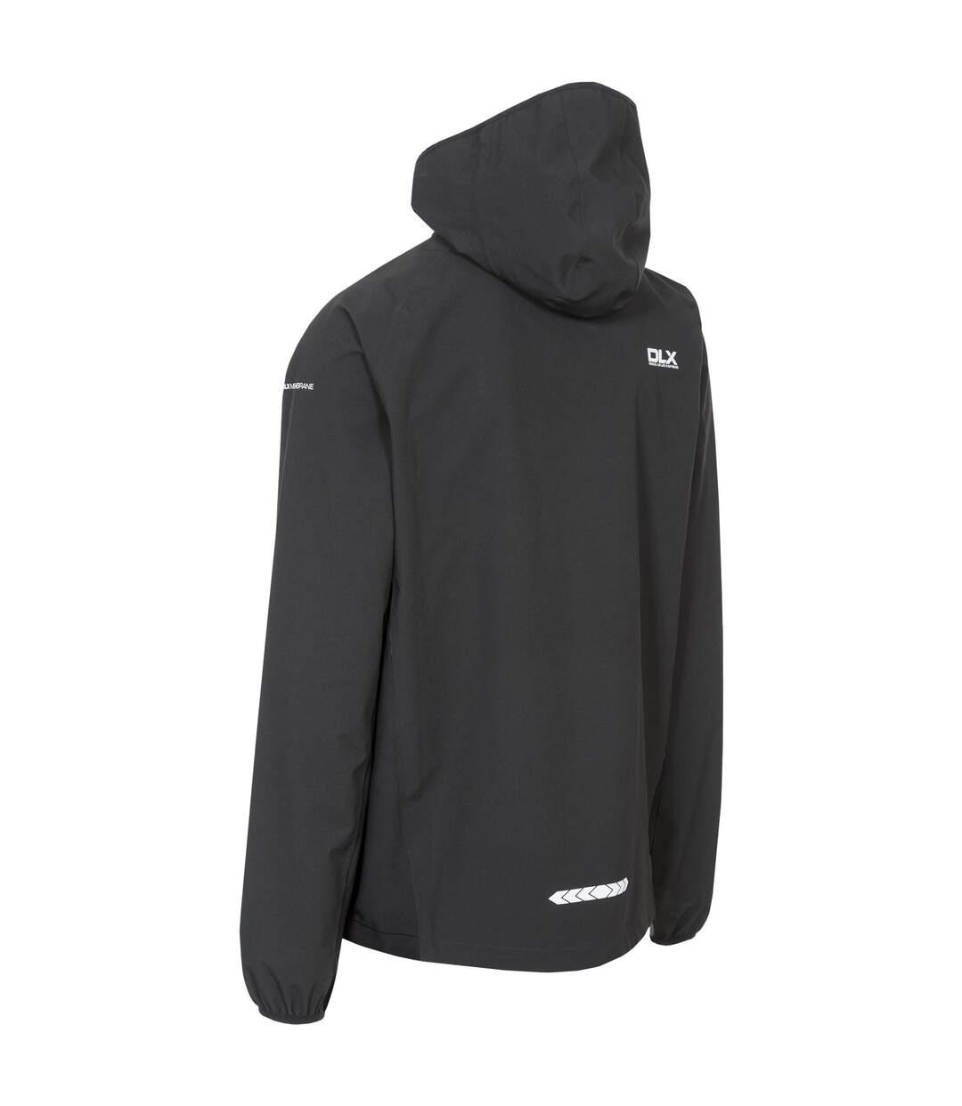 Trespass Mens Hawkings Waterproof Packaway Jacket (Black) - UTTP3971
