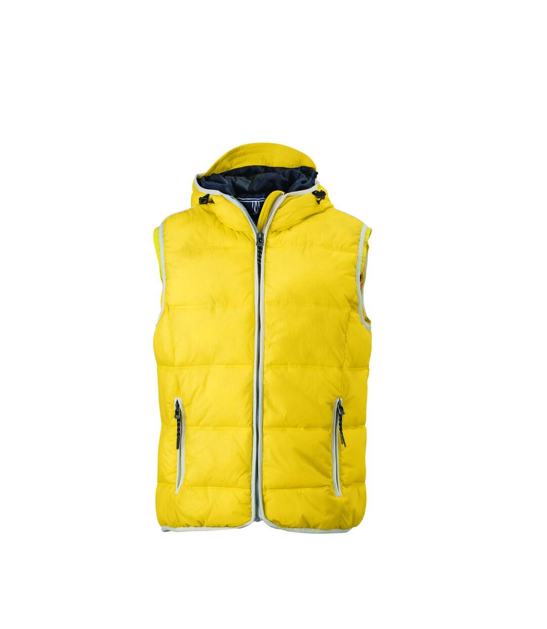 Doudoune sans manches pour homme - JN1076 - jaune soleil
