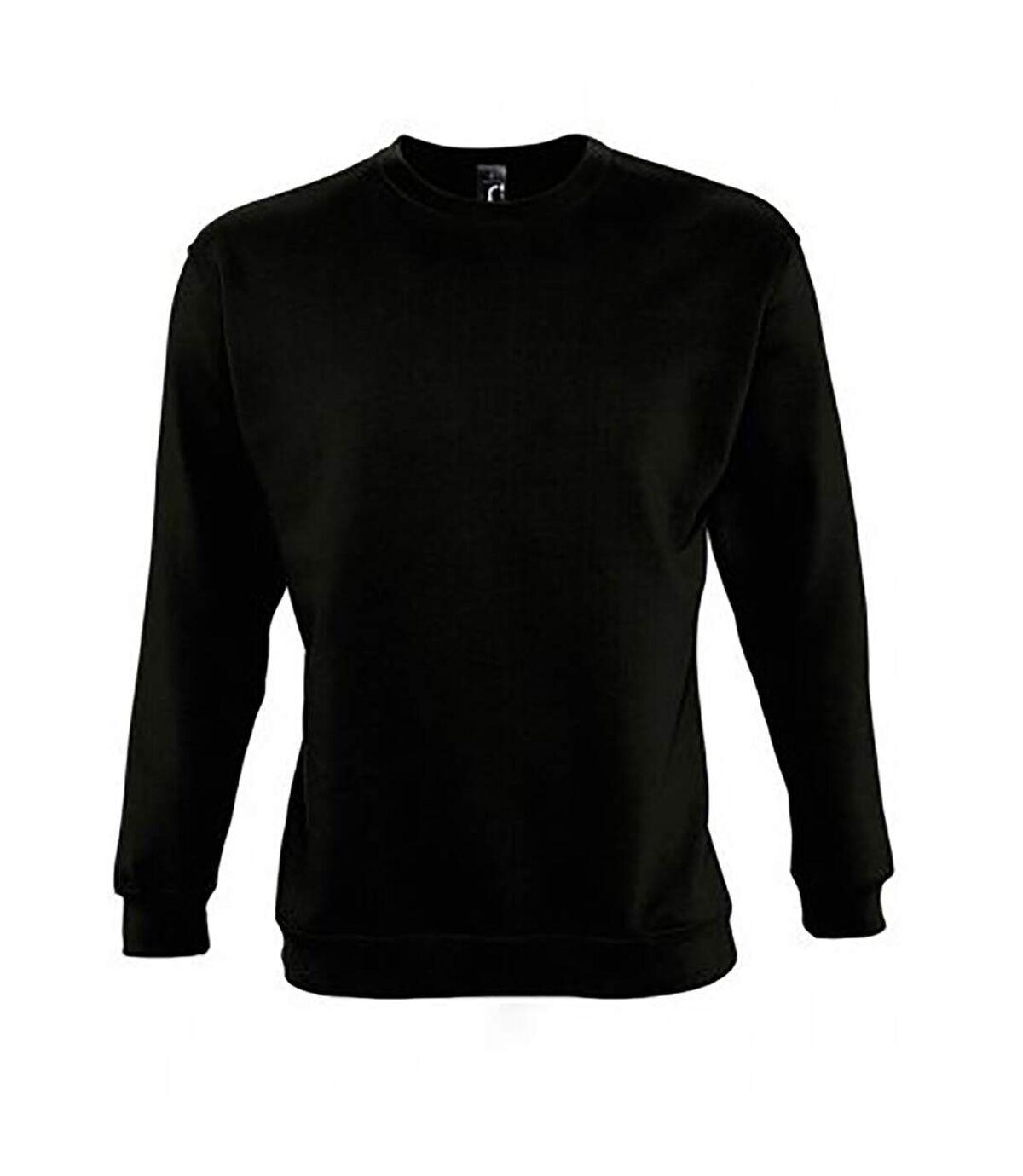 SOLS Unisex Supreme Sweatshirt (Black) - UTPC2837