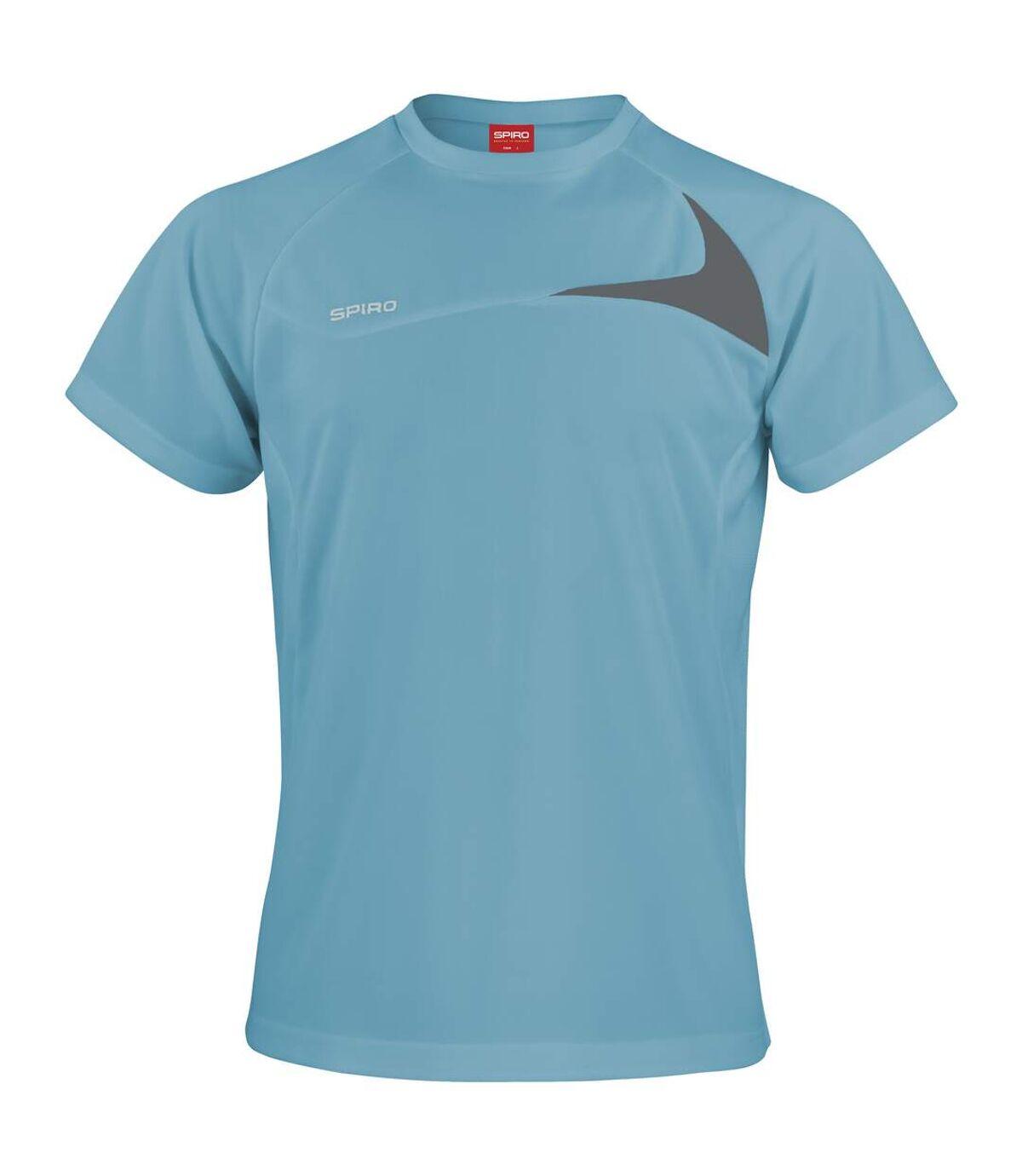 Spiro Mens Sports Dash Performance Training Shirt (Navy/White) - UTRW1476
