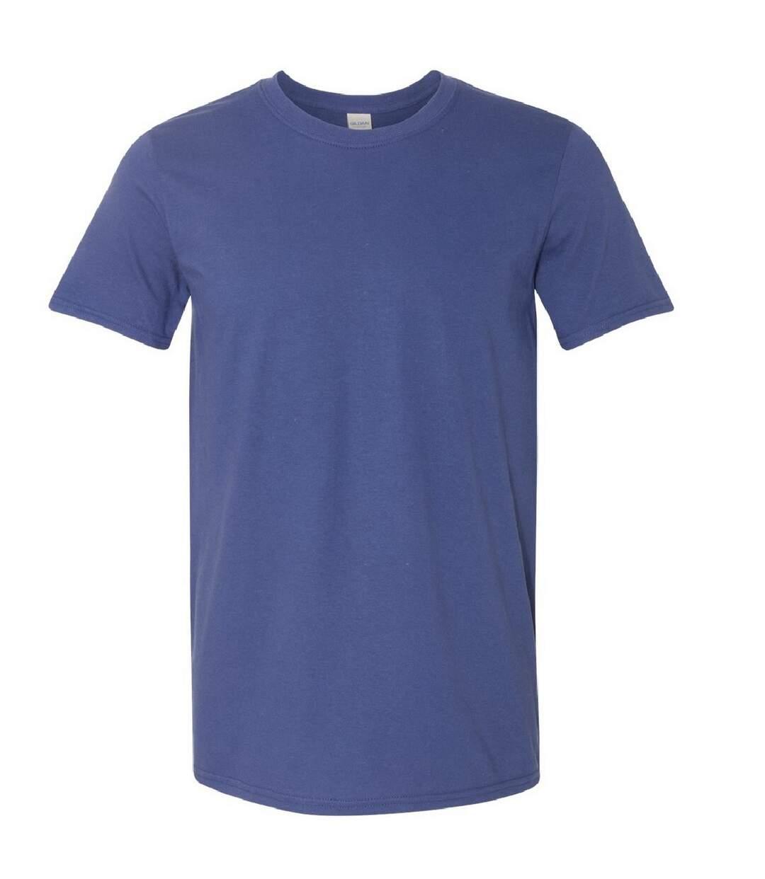 Gildan Mens Short Sleeve Soft-Style T-Shirt (Metro Blue) - UTBC484