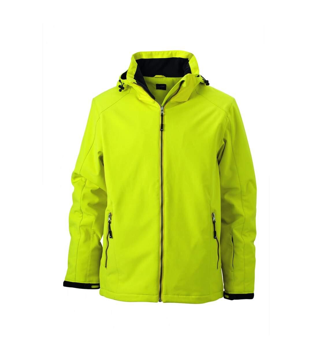 Veste softshell doublée - JN1054 - Jaune - Homme - Sports d'hiver - Ski