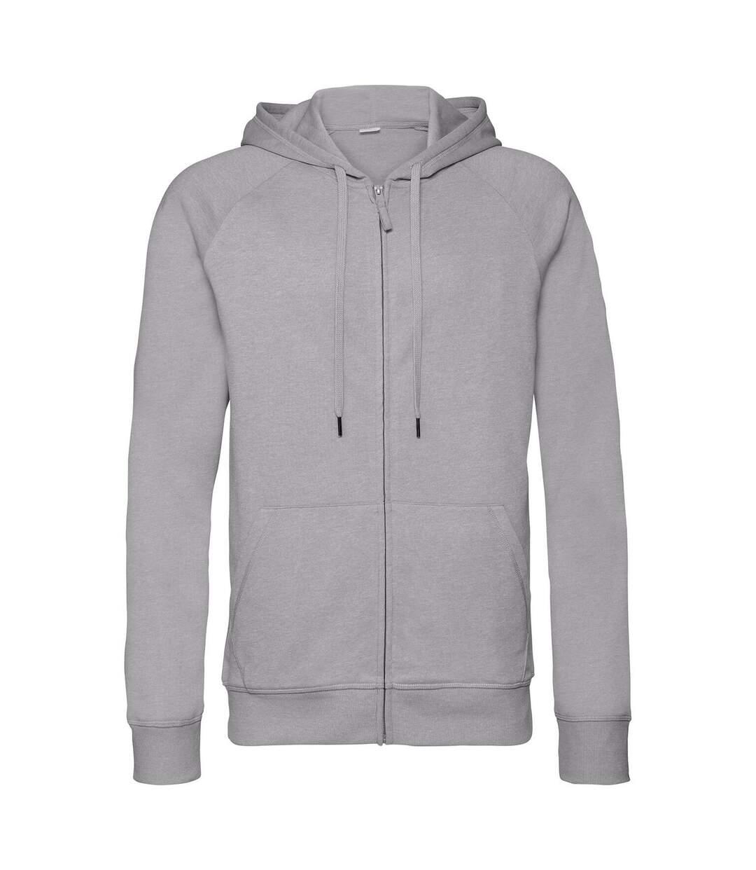Russell Mens HD Zip Hooded Sweatshirt (Grey Marl) - UTPC3136