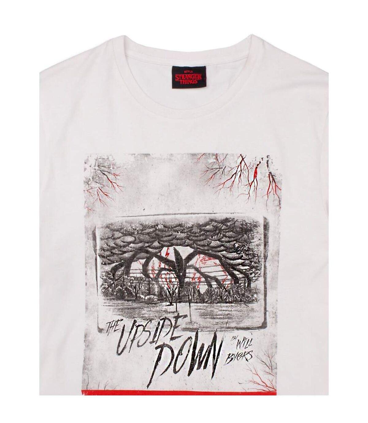 Stranger Things Mens Upside Down T-Shirt (White) - UTNS5806