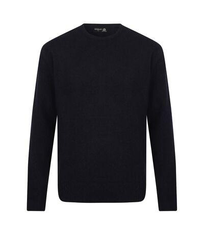Henbury Mens Crew Neck 100% Lambswool Woolmark® Jumper / Sweatshirt (Navy) - UTRW668