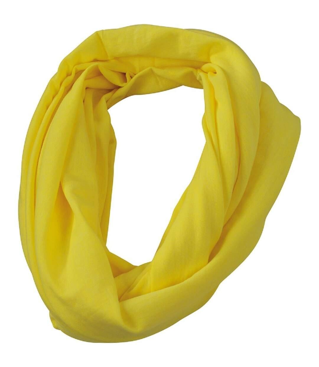 Echarpe - Tour de cou adulte - MB6578 - jaune mélange
