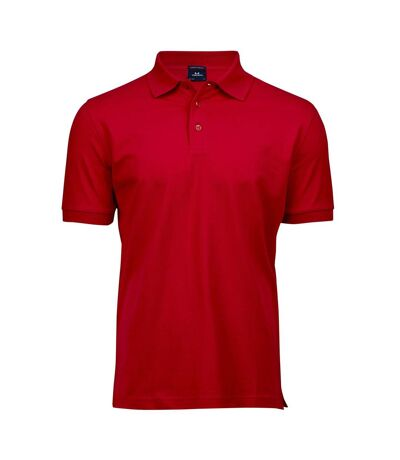Tee Jays Mens Luxury Stretch Short Sleeve Polo Shirt (Red) - UTBC3305