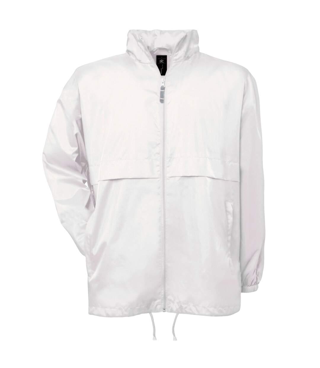B&C Mens Air Lightweight Windproof, Showerproof & Water Repellent Jacket (White) - UTBC1281