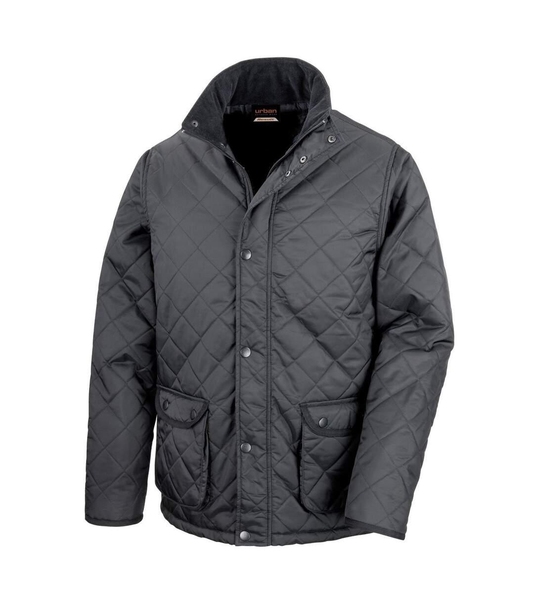 Result Mens Urban Cheltenham Water Repellent Jacket (Black) - UTBC892