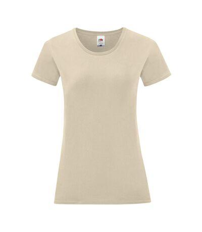 Fruit Of The Loom Womens/Ladies Iconic T-Shirt (Natural) - UTPC3400