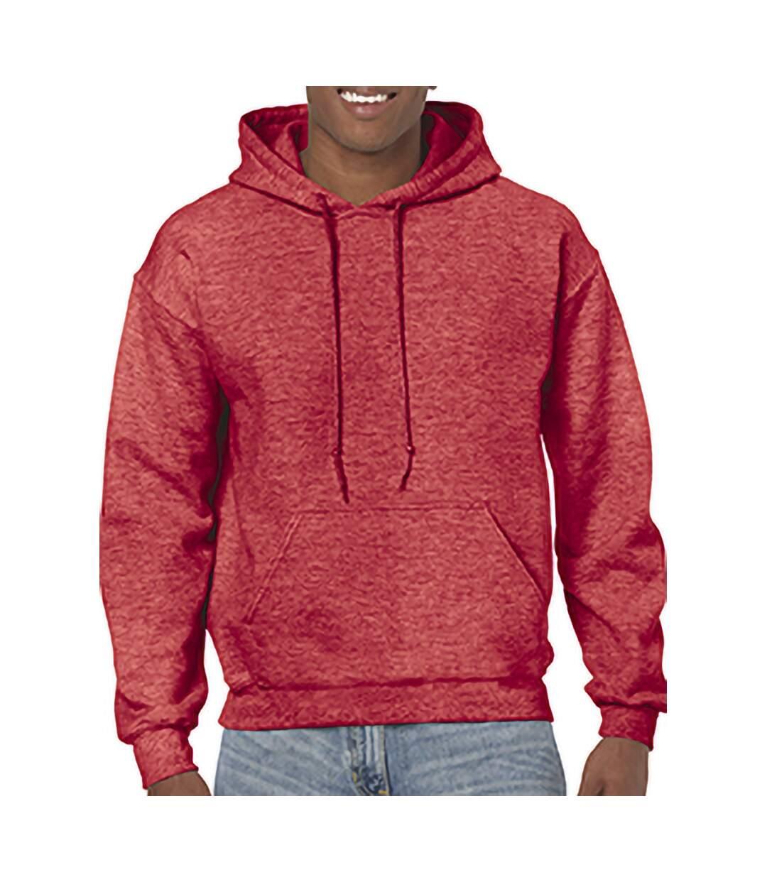 Gildan - Sweatshirt À Capuche - Unisexe (Rouge écarlate chiné) - UTBC468