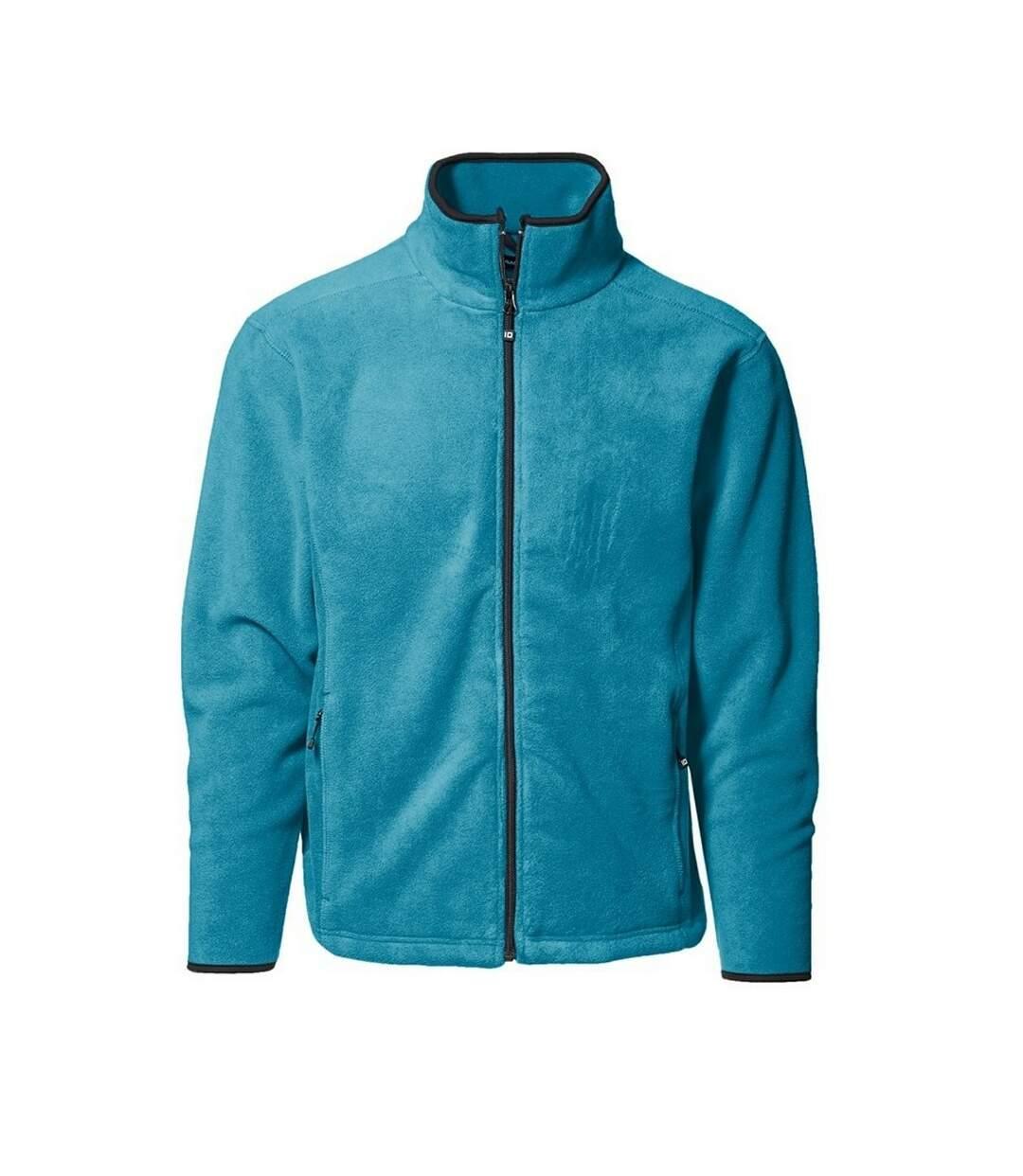 ID Mens Microfleece Regular Fitting Full Zip Jacket (Turquoise) - UTID350