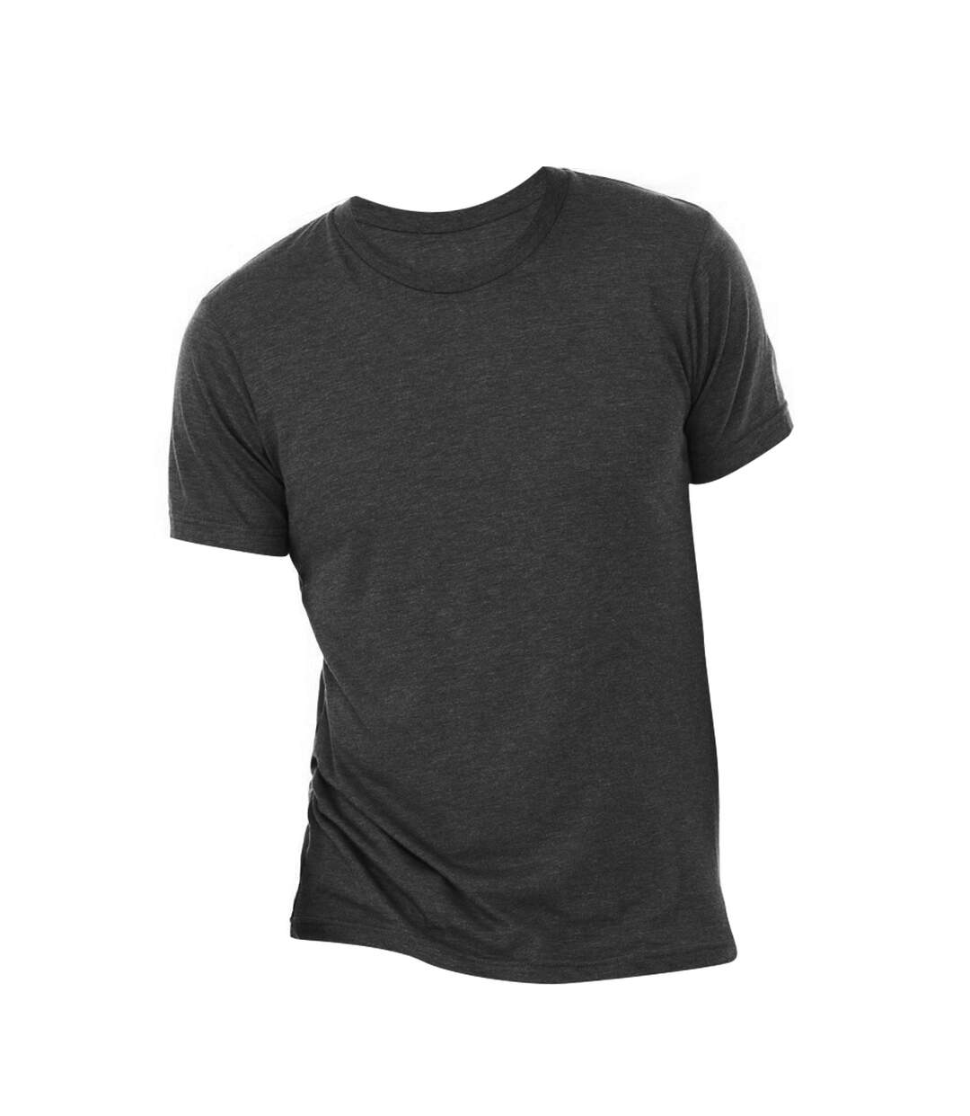 Canvas Mens Triblend Crew Neck Plain Short Sleeve T-Shirt (Charcoal Black Triblend) - UTBC2596