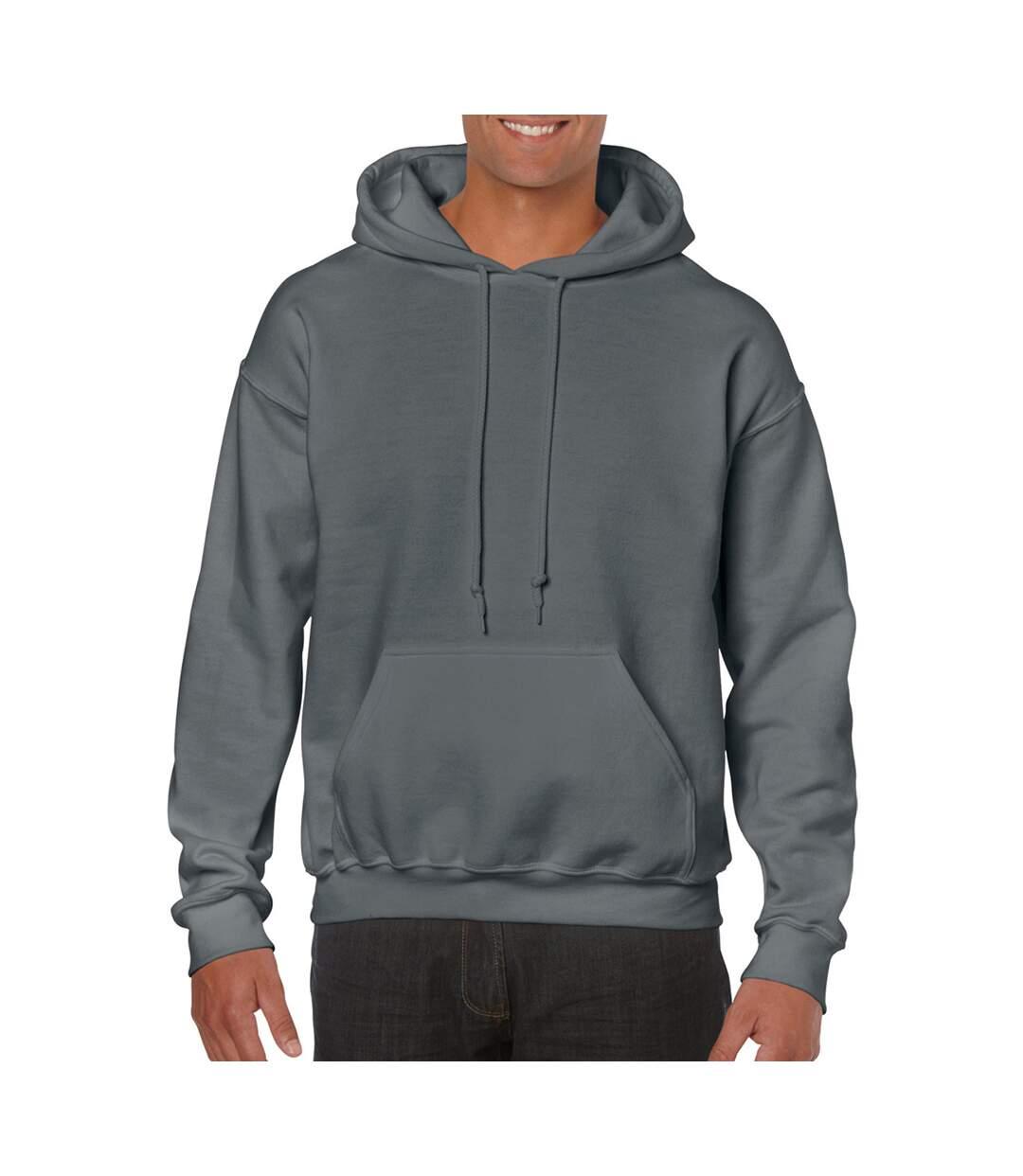 Gildan Heavy Blend Adult Unisex Hooded Sweatshirt / Hoodie (Heather Sport Scarlet Red) - UTBC468