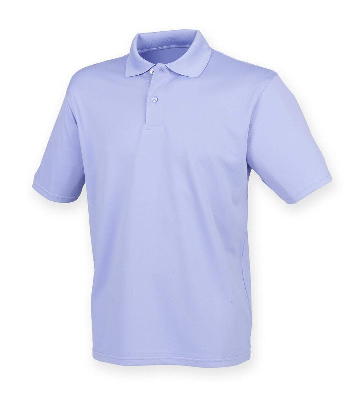Henbury Mens Coolplus® Pique Polo Shirt (Lavender) - UTRW635