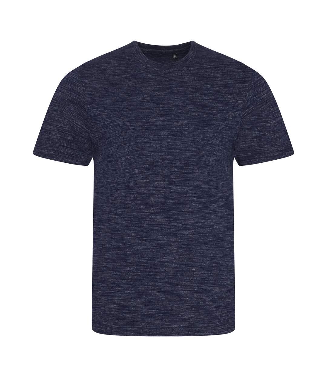AWDis Mens Cosmic Blend T-Shirt (Cosmic Navy/Cosmic White) - UTPC2977
