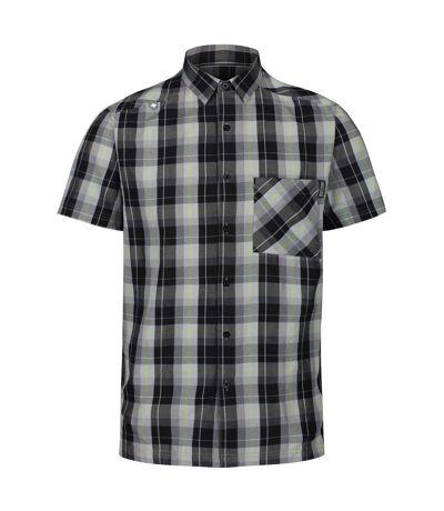 Regatta Mens Kalambo V Short Sleeved Checked Shirt (Black) - UTRG4929