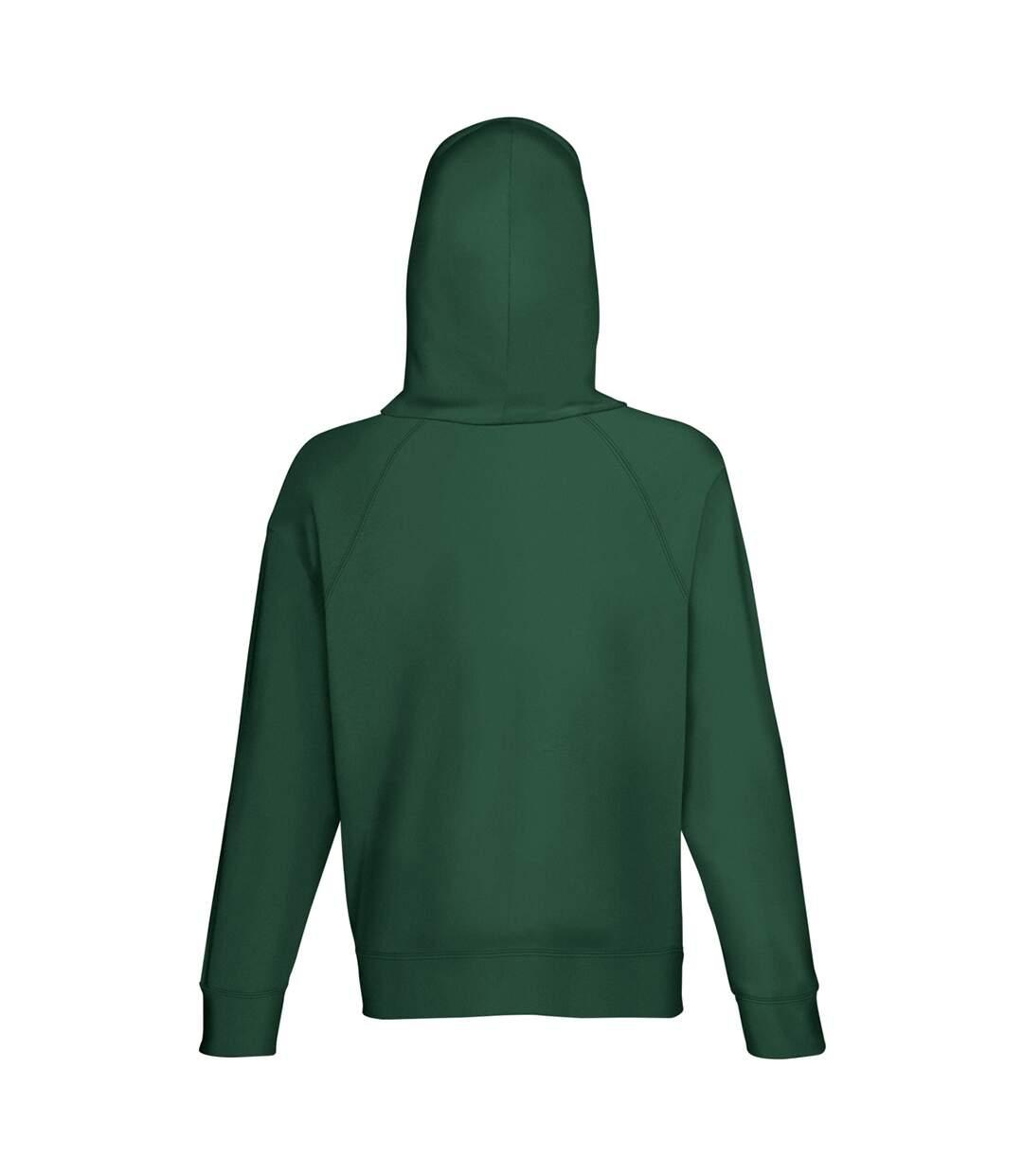 Fruit Of The Loom Mens Lightweight Hooded Sweatshirt / Hoodie (240 GSM) (Bottle Green) - UTBC2654
