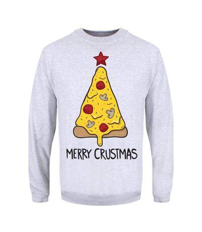 Grindstore Mens Merry Crustmas Christmas Jumper (Grey) - UTGR1915