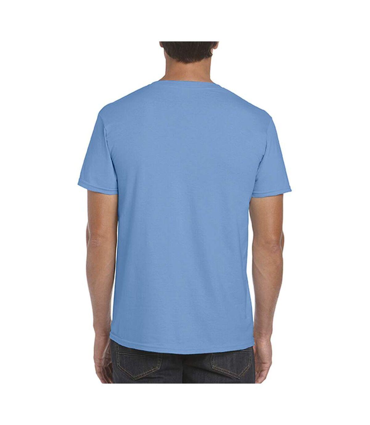 Gildan Mens Short Sleeve Soft-Style T-Shirt (Heather Purple) - UTBC484