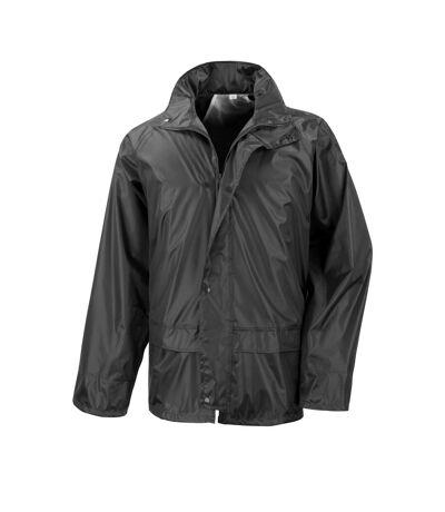Result Mens Core Stormdri Rain Over Jacket (Black) - UTBC2055