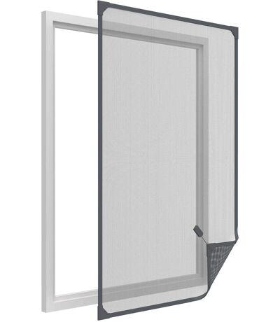 Moustiquaire avec cadre magnétique pour fenêtre anthracite max 100x120 cm
