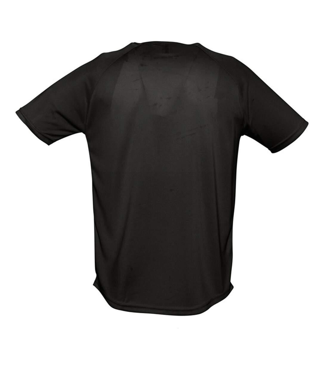 SOLS Mens Sporty Short Sleeve Performance T-Shirt (Black) - UTPC303