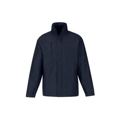 B&C Mens Corporate 3-In-1 Hooded Parka Jacket (Navy) - UTRW4836