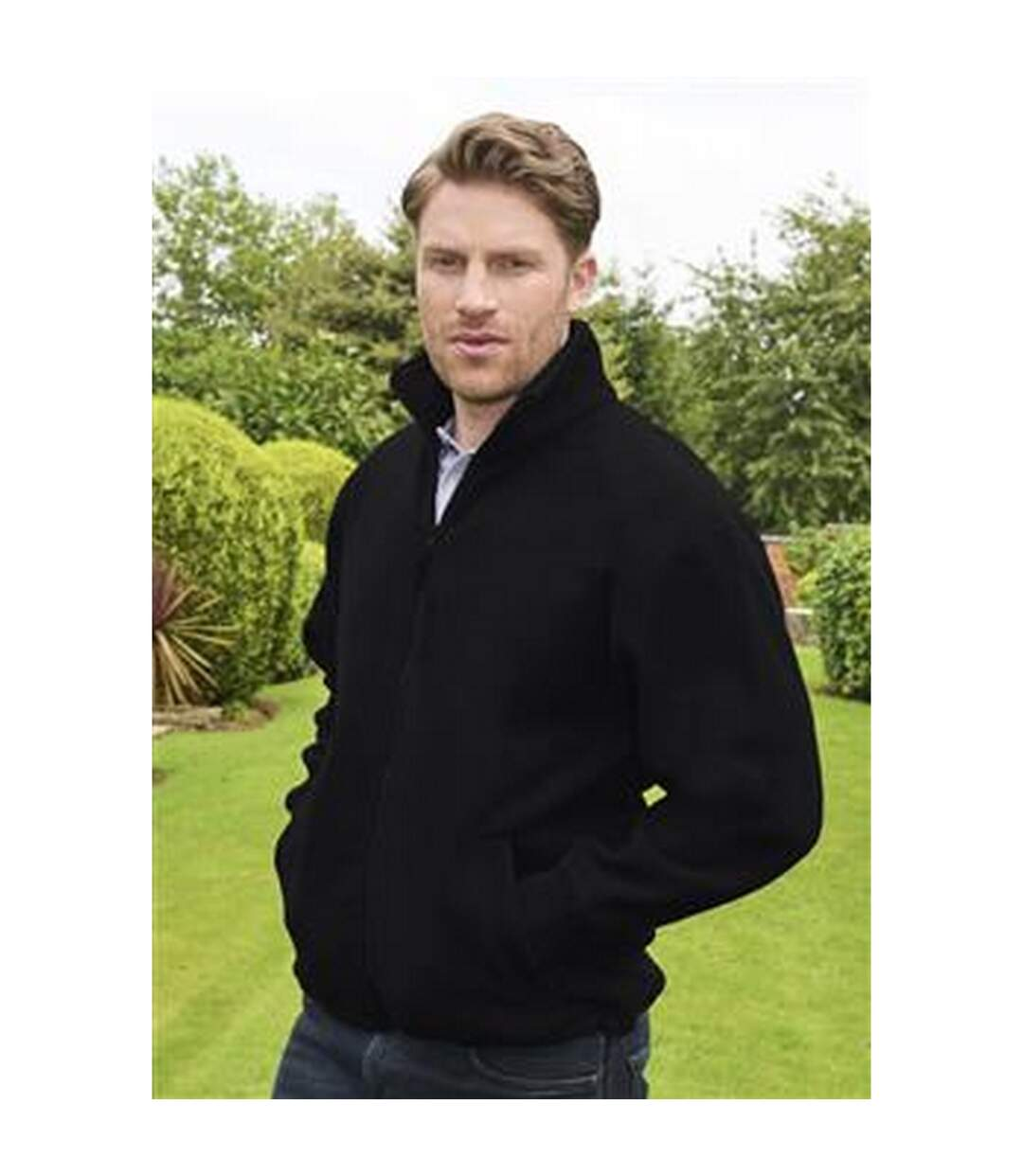 Absolute Apparel Mens Brumal Full Zip Fleece (Black Opal) - UTAB131