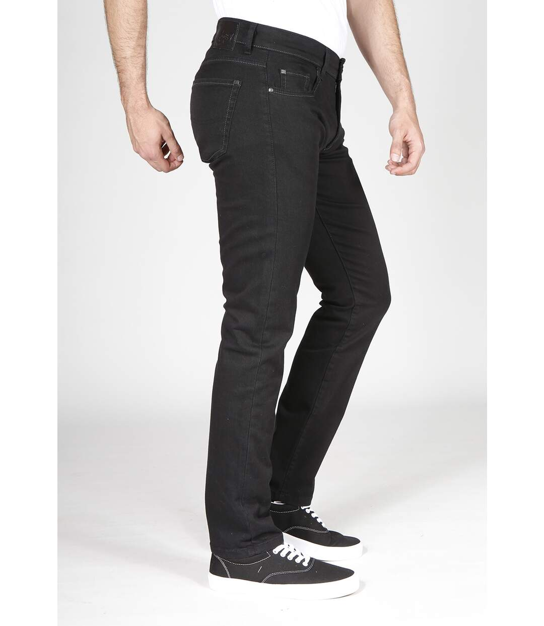 Jeans Fibreflex® coupe droite ajustée noir noir