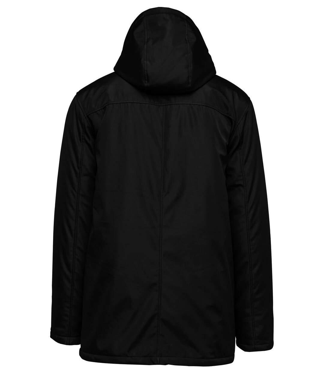 Parka Homme capuche amovible - K656 - noir