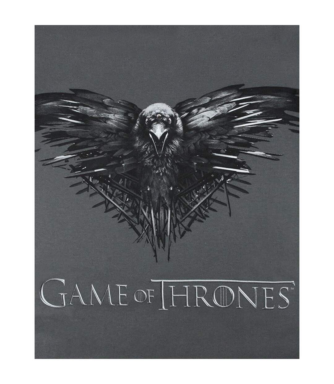 Game of Thrones Mens Three Eyed Raven Vest (Charcoal) - UTNS5690
