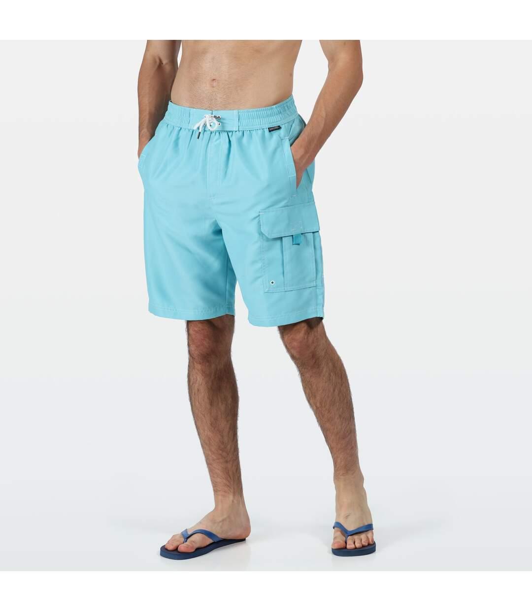 Regatta Mens Hotham III Mesh Quick Drying Board Shorts (Maui Blue) - UTRG4174