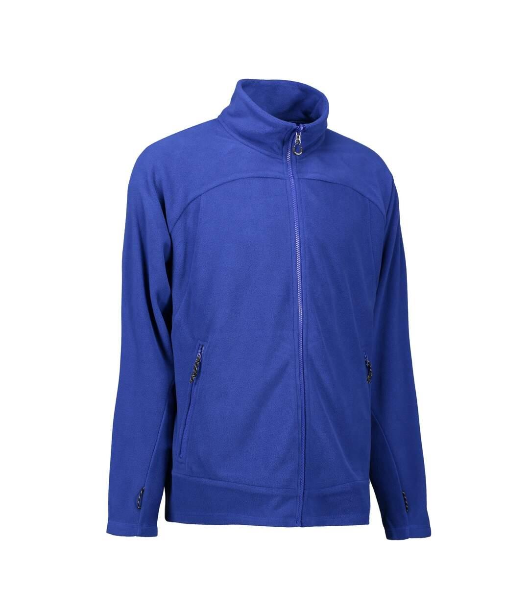 ID Mens Zip N Mix Active Fleece Jacket (Royal Blue) - UTID425