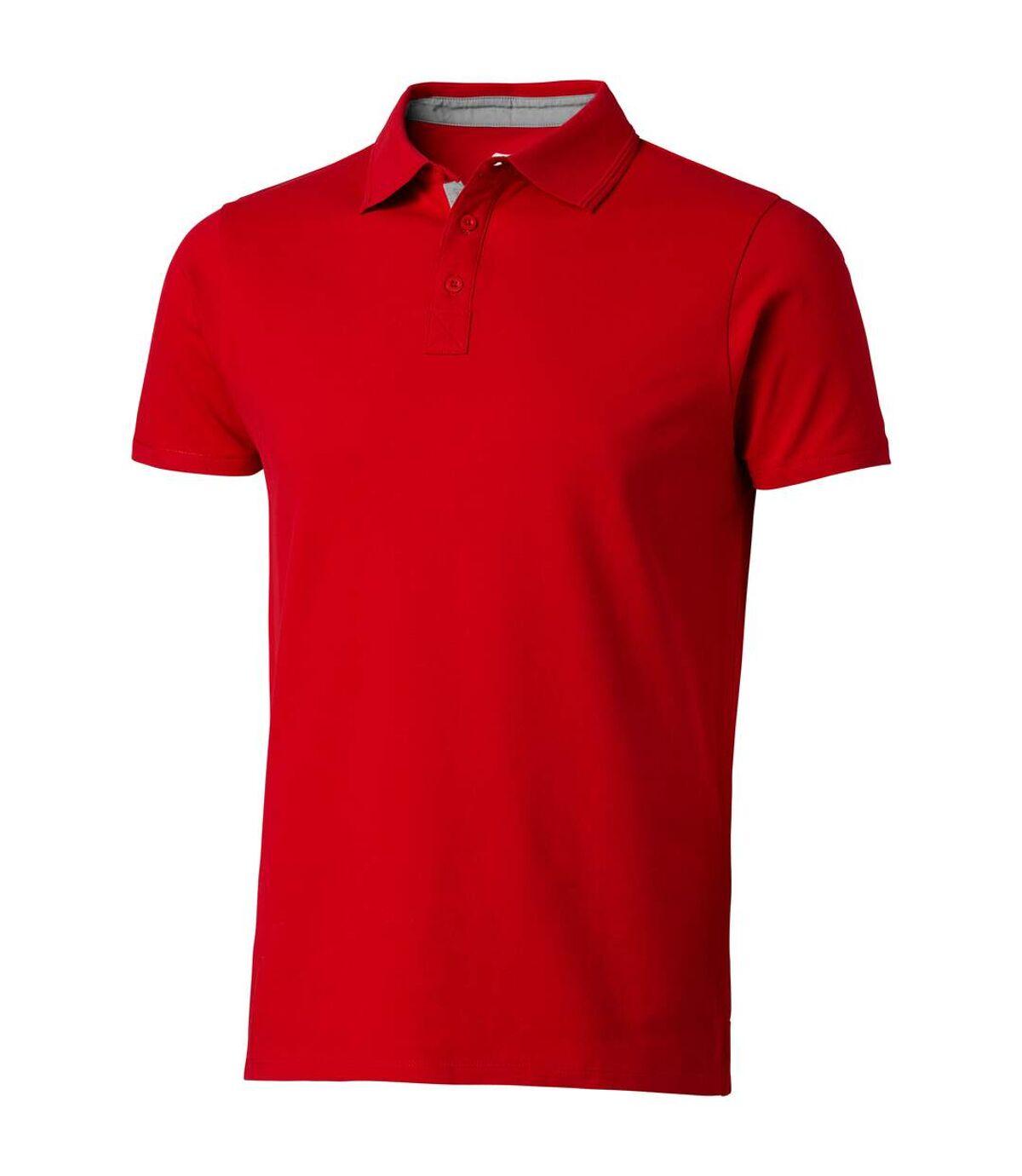 Slazenger Mens Hacker Short Sleeve Polo (Red) - UTPF1736