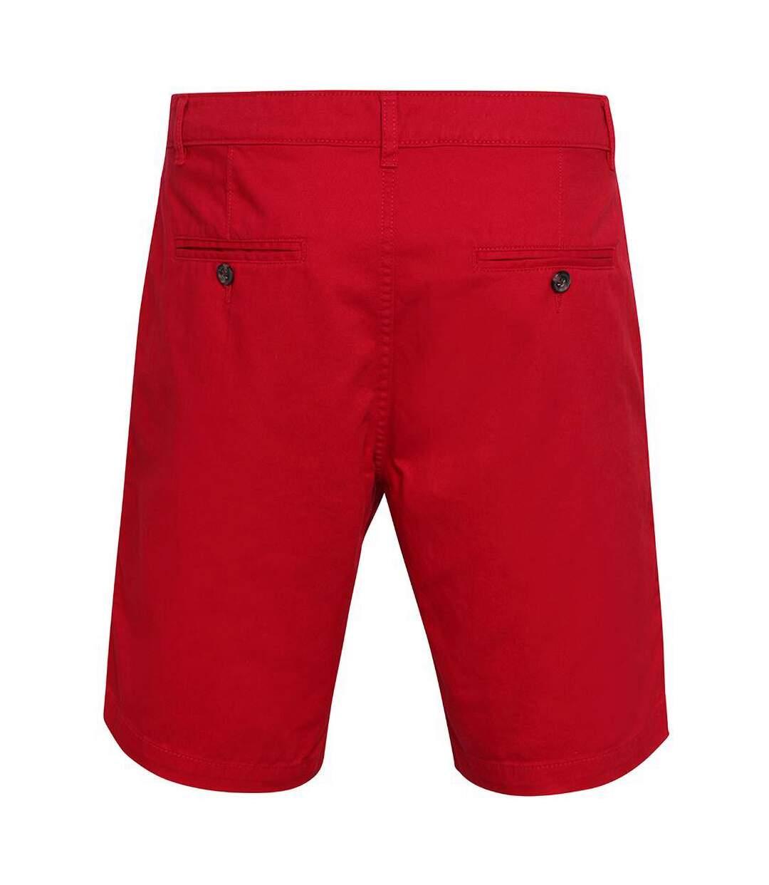 Asquith & Fox Mens Casual Chino Shorts (Cherry Red) - UTRW4908