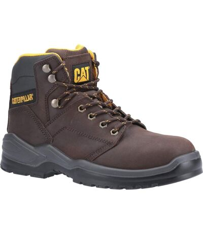 Caterpillar Mens Striver Lace Up Injected Leather Safety Boot (Brown) - UTFS6989