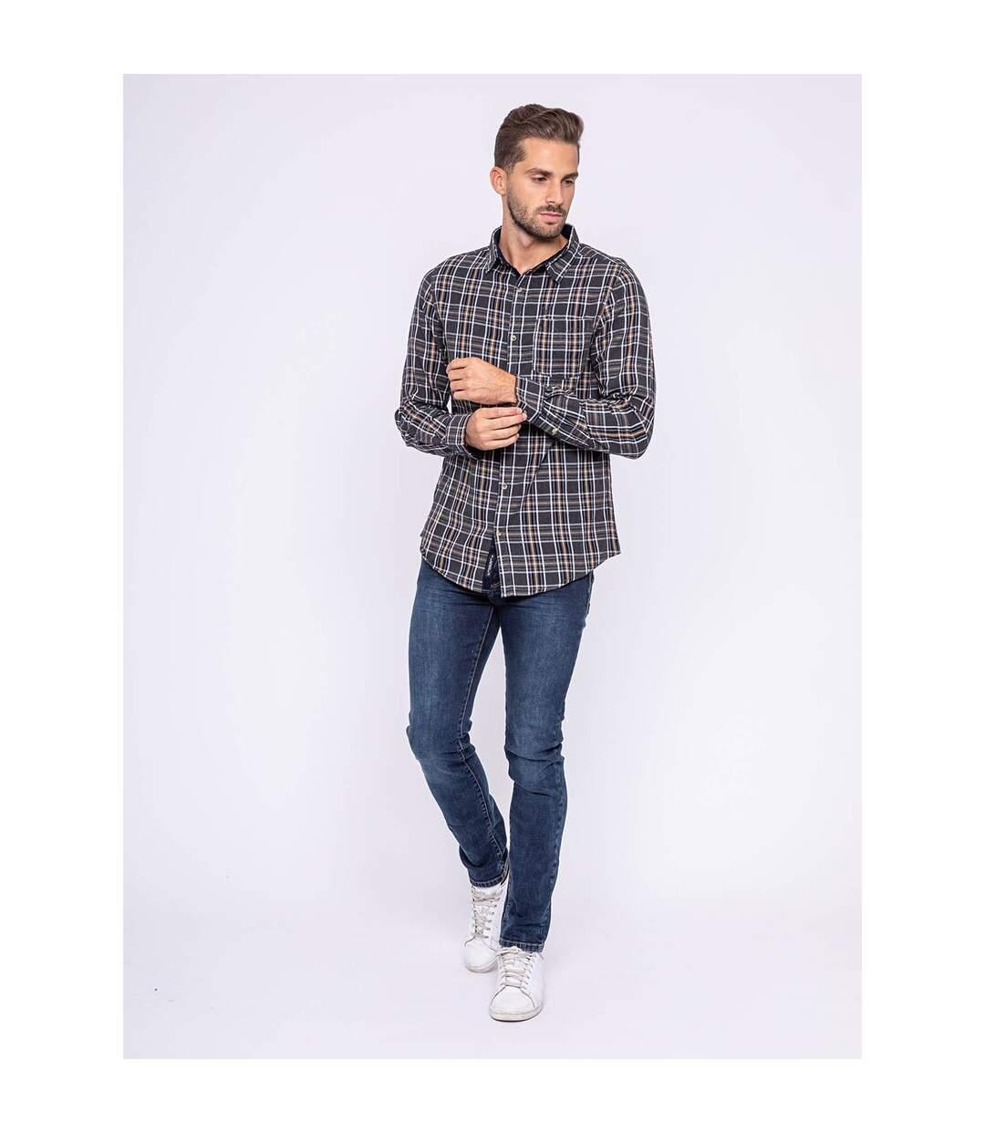 Chemise manches longues carreaux pur coton TILOUP - RITCHIE