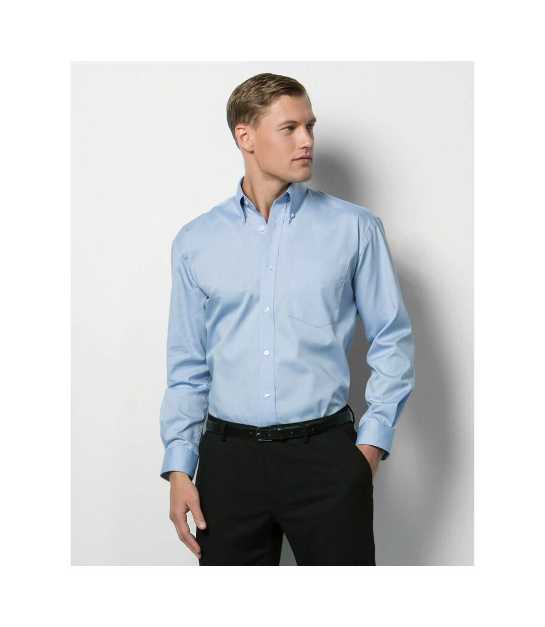 Kustom Kit Mens Long Sleeve Corporate Oxford Shirt (Light Blue) - UTBC594