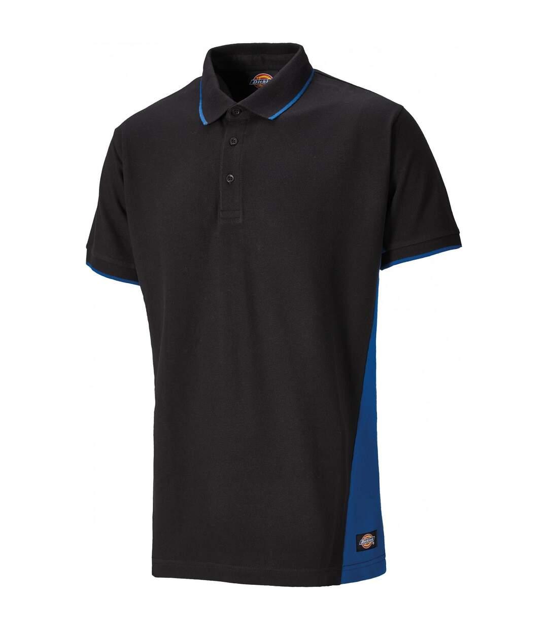 Dickies Mens Two Tone Piqu Polo Shirt (Black/Royal) - UTPC3460