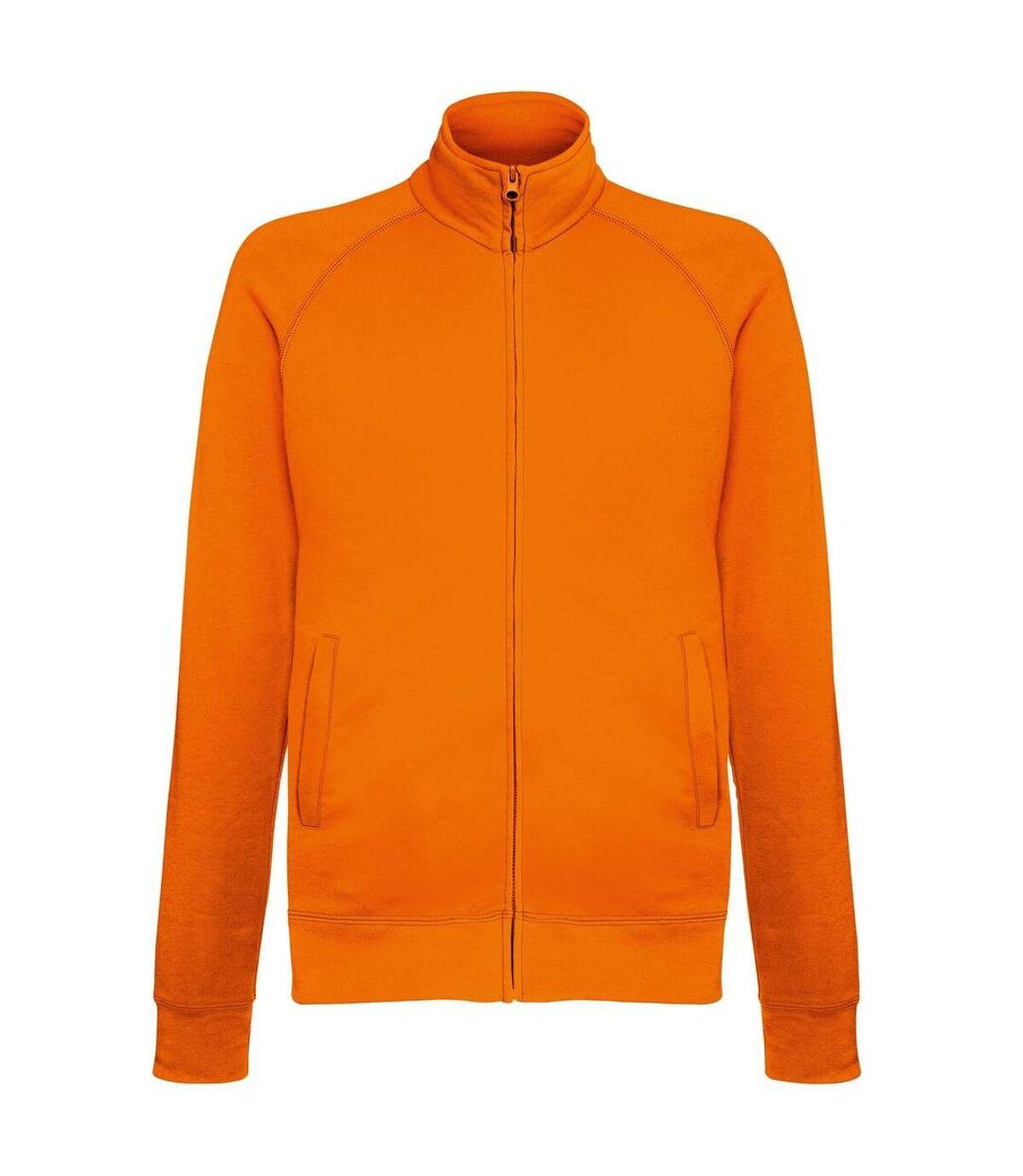 Fruit Of The Loom Mens Lightweight Full Zip Sweatshirt Jacket (Fuchsia) - UTRW4500