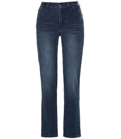 Gina Laura jeans Anna boyfriend style côté scintillant blanchi NOUVEAU